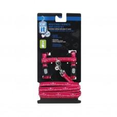 Catit Adjustable Harness & Leash Set (M) Red