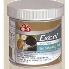 8 in 1 Excel Ear Cleansing Pads for Dogs and Cats (90 pads)