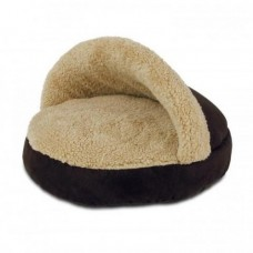 AFP Lambswool Cosy Snuggle Pets Bed Brown