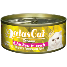 Aatas Cat Creamy Chicken & Crab 80g