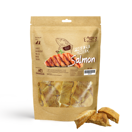 Absolute Bites Freeze Dried Salmon For Dogs & Cats 50g