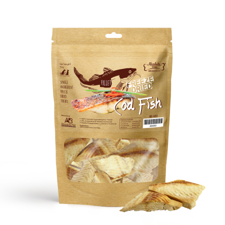 Absolute Bites Freeze Dried Cod Fish For Dogs & Cats 30g