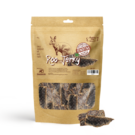 Absolute Bites Air Dried Roo Jerky Dog Treat 90g