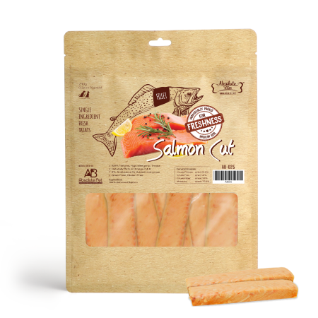Absolute Bites Freshness Salmon Cut For Dogs & Cats Treats 240g