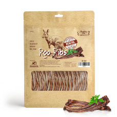 Absolute Bites Air Dried Kangaroo Ribs Dog Treats 300g