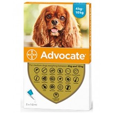 Advocate Flea and Worm Treatment for Medium Dogs 4kg - 10kg
