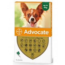 Advocate Flea and Worm Treatment for Small Dogs Up To 4kg