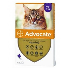 Advocate Flea and Worm Treatment for Cats 4kg - 8kg