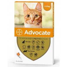 Advocate Flea and Worm Treatment for Cats and Kittens Up To 4kg