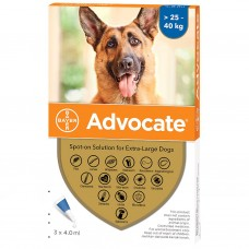Advocate Flea and Worm Treatment for Extra Large Dogs 25kg - 40kg