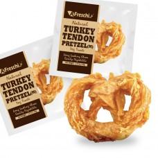 Afreschi Srl Natural Turkey Tendon Pretzel Medium Dog Treat 36g