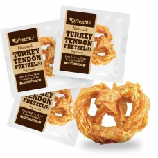 Afreschi Srl Natural Turkey Tendon Pretzel Small Dog Treat 12g