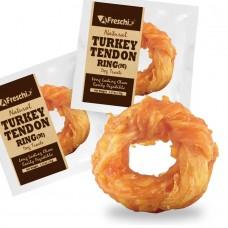 Afreschi Srl Natural Turkey Tendon Ring Medium Dog Treat 36g