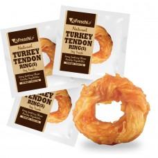 Afreschi Srl Natural Turkey Tendon Ring Small Dog Treat  12g
