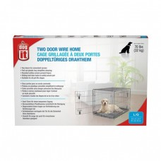 Dogit Two Door Wire Home Crates With Divider Large
