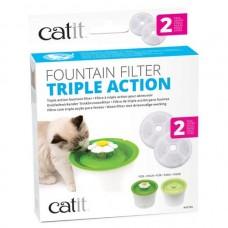 Catit Fountain Filter Triple Action 2pcs