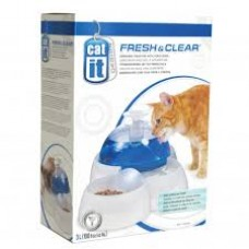 Catit Design Fresh & Clear Cat Dinking Fountain with Food Bowl 3L
