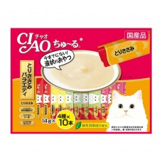 Ciao Chu ru Chicken Fillet Variety with Added Vitamin and Green Tea Extract 14g x 40pcs