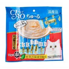 Ciao Chu ru Tuna Dried Bonito Mix with Added Vitamin and Green Tea Extract 14g x 20pcs