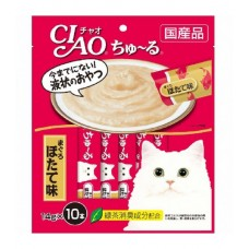 Ciao Chu ru White Meat Tuna Scallop with Added Vitamin and Green Tea Extract 14g x 10pcs