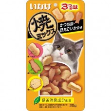 Ciao Soft Bits Tuna & Chicken Fillet Dried Bonito Scallop & Squid Flavor 25g