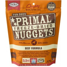 Primal Dog Freeze Dried Nuggets Beef 14oz (2 Packs)