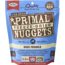 Primal Dog Freeze Dried Nuggets Duck 14oz (2 Packs)
