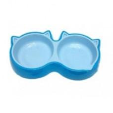 Cat Style Bowl Double (L) Blue