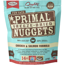 Primal Cat Freeze Dried Nuggets Chicken & Salmon 14oz (2 Packs)
