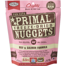 Primal Cat Freeze Dried Nuggets Beef & Salmon 5.5oz (2 Packs)