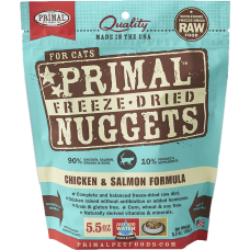 Primal Cat Freeze Dried Nuggets Chicken & Salmon 5.5oz (2 Packs)