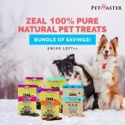 ZEAL 100% Pure Natural Pet Treats Bundle Of Savings