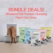 Whiskers2Tail Premium Clumping Paper Cat Litter Bundle Deals