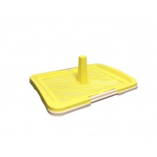 Armonto Flat Dog Toilet With Net Yellow