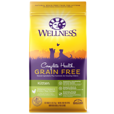 Wellness Cat Complete Health Grain Free Kitten Recipe Deboned Chicken & Chicken 5Lb