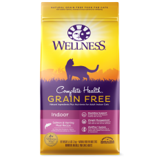 Wellness Cat Complete Health Grain Free Indoor Recipe Salmon & Herring 11Lb