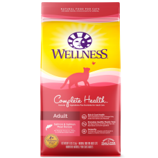Wellness Cat Complete Health Adult Salmon, Salmon Meal and Rice 12Lb