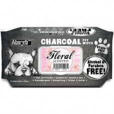 Absorb Plus Pet Wipes Charcoal 80's Floral (2 Packs)