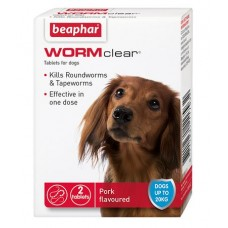 Beaphar Wormer Tablets Wormclear for Small Dog (2 tabs)