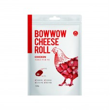 Bow Wow Cheese Roll Chicken Dog Treats 120g
