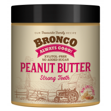 Bronco Peanut Butter Strong Teeth Dog Treats 250g