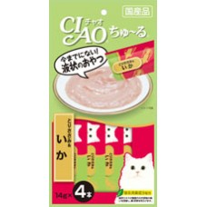 Ciao Chu ru Chicken Fillet and Squid with Added Vitamin and Green Tea Extract 14g x 4pcs