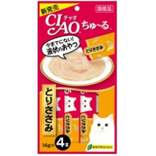 Ciao Chu ru Chicken Fillet with Added Vitamin and Green Tea Extract 14g x 4pcs
