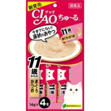 Ciao Chu ru Tuna with Collagen with Added Vitamin and Green Tea Extract 14g x 4pcs