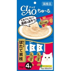 Ciao Chu ru White Meat Tuna and Scallop with Added Vitamin and Green Tea Extract 14g x 4pcs