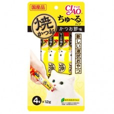 Ciao Grilled Tuna Chu ru Dried Bonito with Added Vitamin and Green Tea Extract 14g x 4pcs