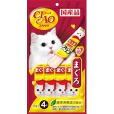 Ciao Stick Tuna Maguro in Jelly with Added Vitamin and Green Tea Extract 14g x 4pcs