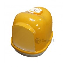 Cat Litter Box Closed With Mesh (M) Yellow