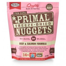Primal Cat Freeze Dried Nuggets Beef & Salmon 14oz (2 Packs)