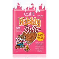 Catit Nibbly Grain Free Grill Chicken & Shrimp Cat Treats 30g
